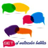 Spech Bubble Background Flat Vector Illustration Stock Photography