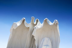 Spechless Plaster White Statues as Symbols of the Abandoned Mine Royalty Free Stock Photo