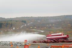 Speciaal brandbestrijdingsvoertuig SPM Stock Foto