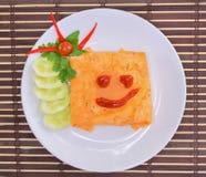 Speciaal die Fried Rice, met een omelet wordt verpakt Royalty-vrije Stock Fotografie