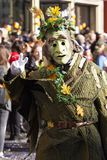 Speciaal het kostuumkarakter van Bazel Carnaval 2019 stock fotografie