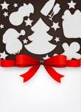 Speciaal het menuontwerp van Kerstmis Stock Afbeeldingen