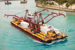 Speciaal schip in de haven van Miami Royalty-vrije Stock Foto