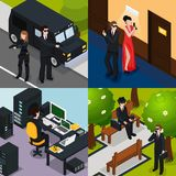 Special Agent Isometric Concept Royalty Free Stock Images