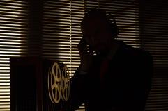 FBI secret agent listens and records the conversation 6 stock image