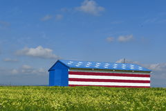 Special American flag style house Stock Photo