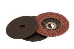 Special angle grinder sander cut discs isolated Stock Images
