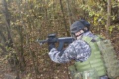 Special anti-terrorist squad Royalty Free Stock Photo