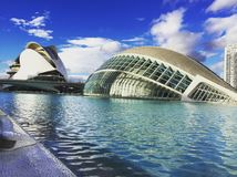 The special architecture buildings in Spain, Valencia. The special architecture building design in Spain, Valencia Stock Photos