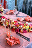 Arrangement for the wedding dinner party-6 Royalty Free Stock Image