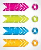 Special arrow stickers Stock Photo