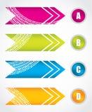 Special arrow stickers Royalty Free Stock Photos