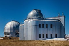 A special astrophysical observatory against the background blue sky.  stock photography