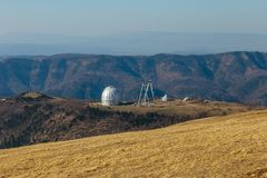 A special astrophysical observatory in North Caucasian mountains.  stock images