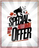 Special autumn offe poster Royalty Free Stock Photos