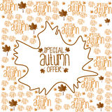 Special autumn offer background. Illustration of Special autumn offer background design Royalty Free Stock Images