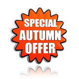 Special autumn offer orange star banner Royalty Free Stock Photography