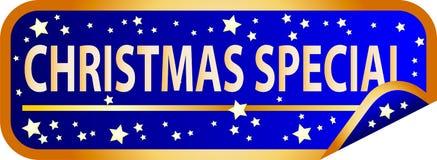 Special azul de la Navidad del botón ilustración del vector