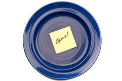Special azul de la placa Fotografía de archivo libre de regalías