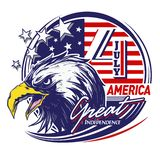 Eagle Character Great America Independence Day royalty free illustration