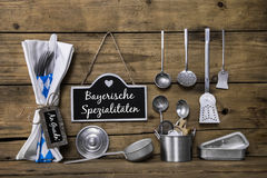 Special bavarian food on the munich Royalty Free Stock Image