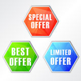 Special, best, limited offer Stock Photos