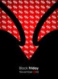 Special black friday banner stock illustration