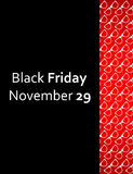 Special black friday flyer royalty free illustration
