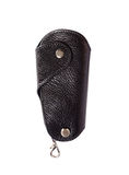 Special black handbag  for key isolated on white background Royalty Free Stock Image