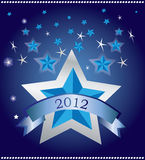 Special blue background. With stars Royalty Free Stock Photos