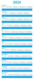 Special blue calendar. For 2014 Royalty Free Stock Photography