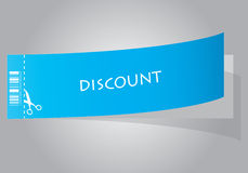 Special blue discount coupon Stock Photography