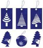 Special blue price tags Stock Image