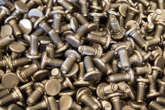 The Special bolts at line production. Automotive part Stock Image