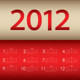 Special calendar 2012. For your website Stock Image
