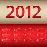 Special calendar 2012 Stock Image