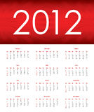 Special calendar for 2012. For your office Stock Photography
