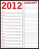 Special calendar for 2012. For your office stock illustration