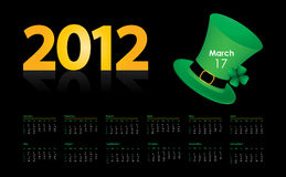 Special calendar. With St. Patrick's Day design Stock Photography