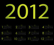 Special calendar. For 2012 year Stock Photography