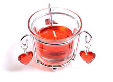 Special candle for 14th February Stock Photography