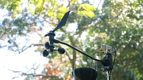 Special cap anemometer measures wind strength and direction