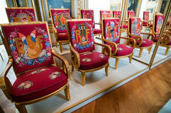 Special chairs for cabinet of ministers Royalty Free Stock Images