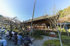 Special child traditional musical event. Kyoto, NOV 23: Special child traditional musical event on NOV 23, 2017 at Bishamondo, Kyoto, Japan Royalty Free Stock Images