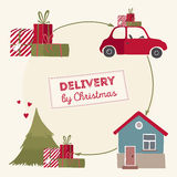 Special christmas delivery vector Illustration Stock Photos