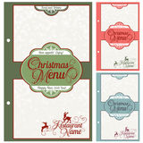 Special Christmas festive menu design. Vector illustration Royalty Free Stock Images