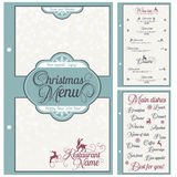 Special Christmas festive menu design. Royalty Free Stock Images