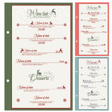 Special Christmas festive menu design. Vector illustration Stock Image
