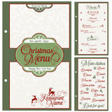 Special Christmas festive menu design. Royalty Free Stock Photo