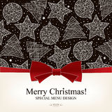 Special Christmas Menu Design Royalty Free Stock Photography